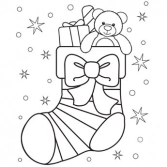Christmas Stocking Coloring Page - Free Christmas Recipes, Coloring ...