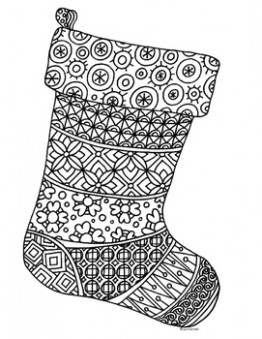 Christmas Stocking Zentangle Coloring Page | Christmas Resources   ..
