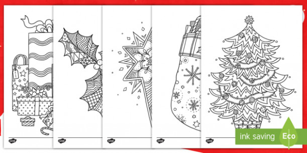 Christmas-Themed Mindfulness Colouring Pages English/French ..