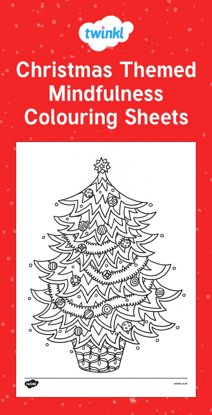 Christmas Themed Mindfulness Colouring Sheets for your children to ..