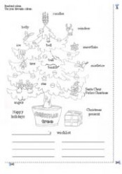 Christmas Tree coloring page – ESL worksheet by francescopio – Christmas Coloring Esl