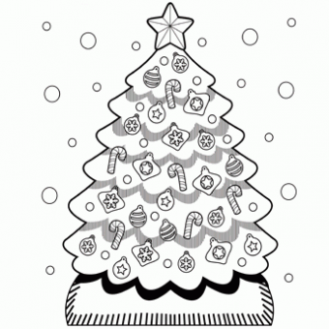 Christmas Tree Coloring Page - Free Christmas Recipes, Coloring ...