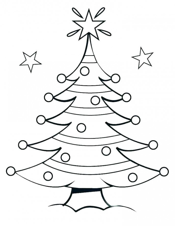 Christmas Tree Coloring Pages Free Tree Printable Coloring Page ..