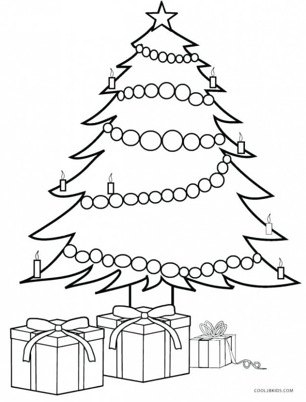 Christmas Tree Coloring Sheet Tree With Presents Coloring Page ..