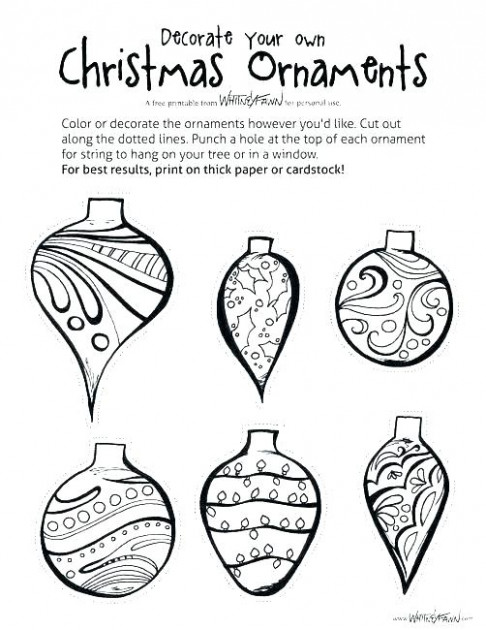 christmas tree decorations coloring pages – helpstudentloans