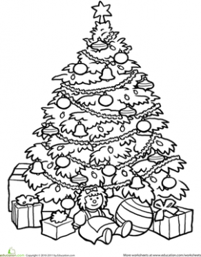 Christmas Tree | Worksheet | Education