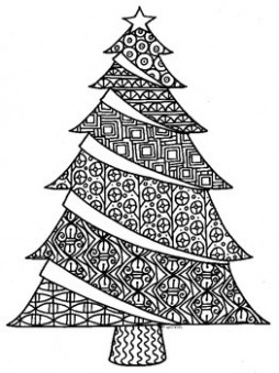Christmas Tree Zentangle Coloring Page by Pamela Kennedy | TpT – Christmas Zentangle Coloring