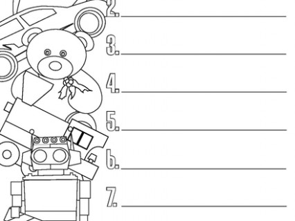 Christmas wish list coloring pages - Christmas List Coloring Pages