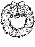 Christmas Wreaths and Holly Coloring Pages – Christmas Garland Coloring Pages