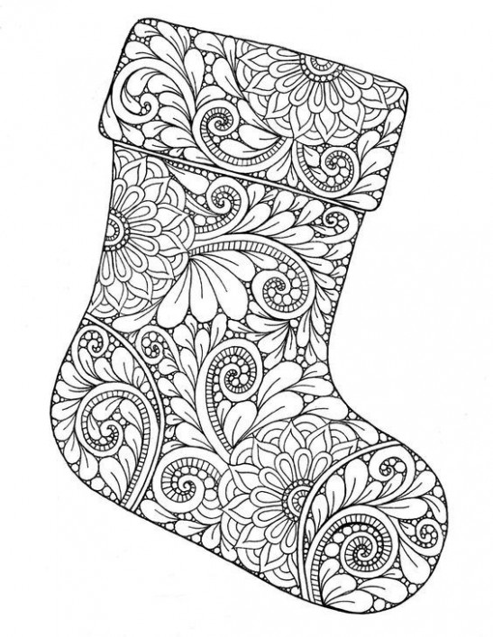 Christmas zentangle coloring page | Art -Tangling | Christmas ..