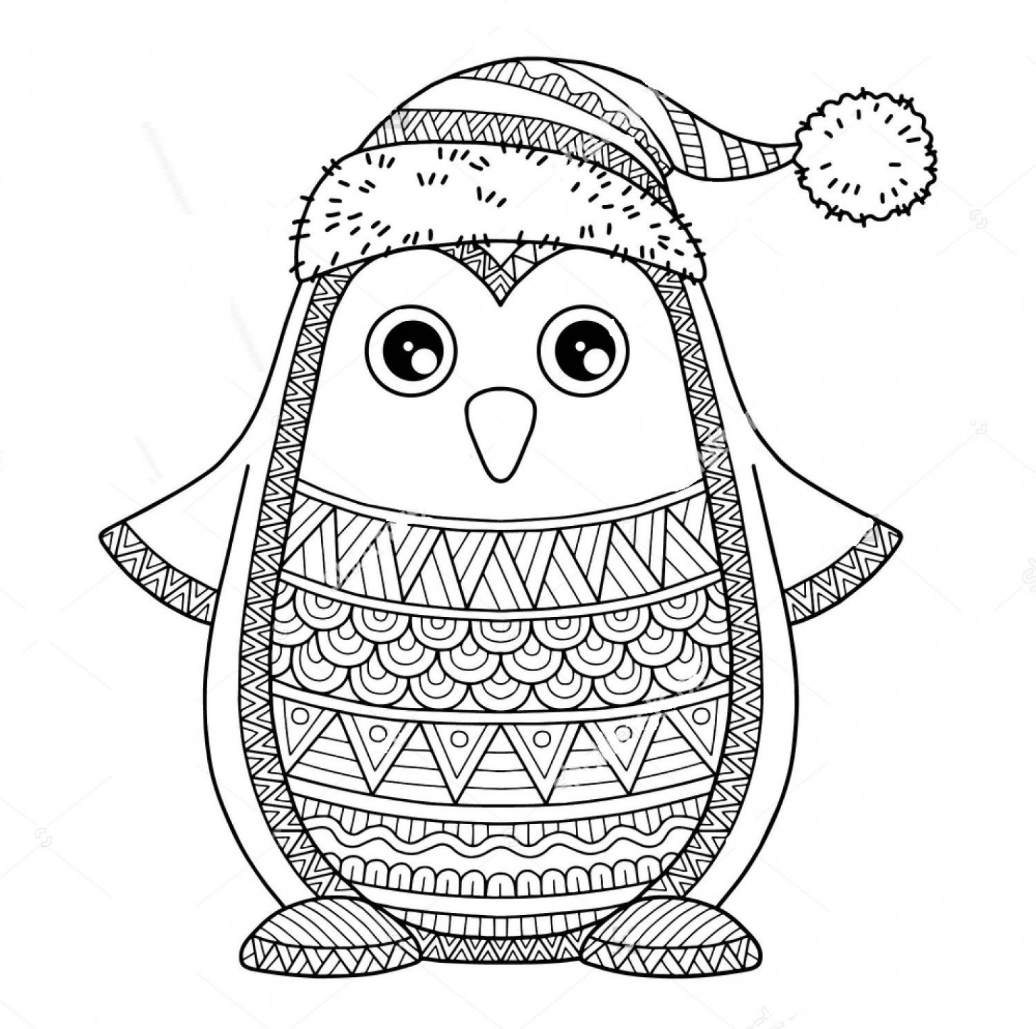 Christmas zentangle coloring page | Christmas coloring pages ..