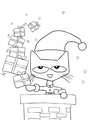 Click Pete the Cat Saves Christmas Coloring page for printable ..