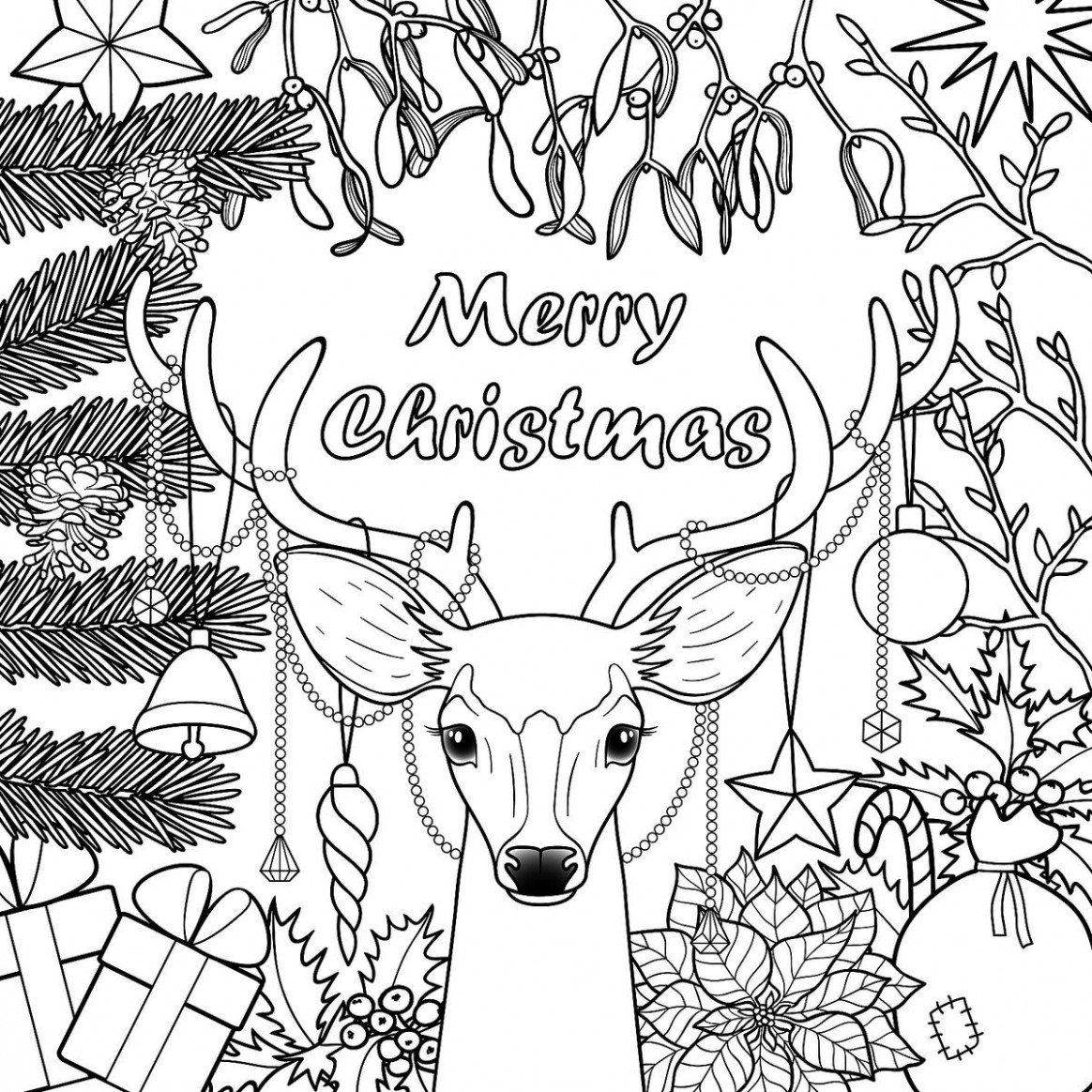 Coloring Book World ~ Free Christmas Coloringoks For Kids Ages And ...