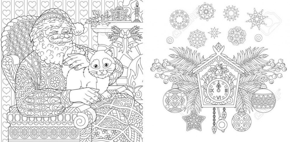 coloring ~ Christmas Coloring Book Colouring Pages Santa Claus With ...