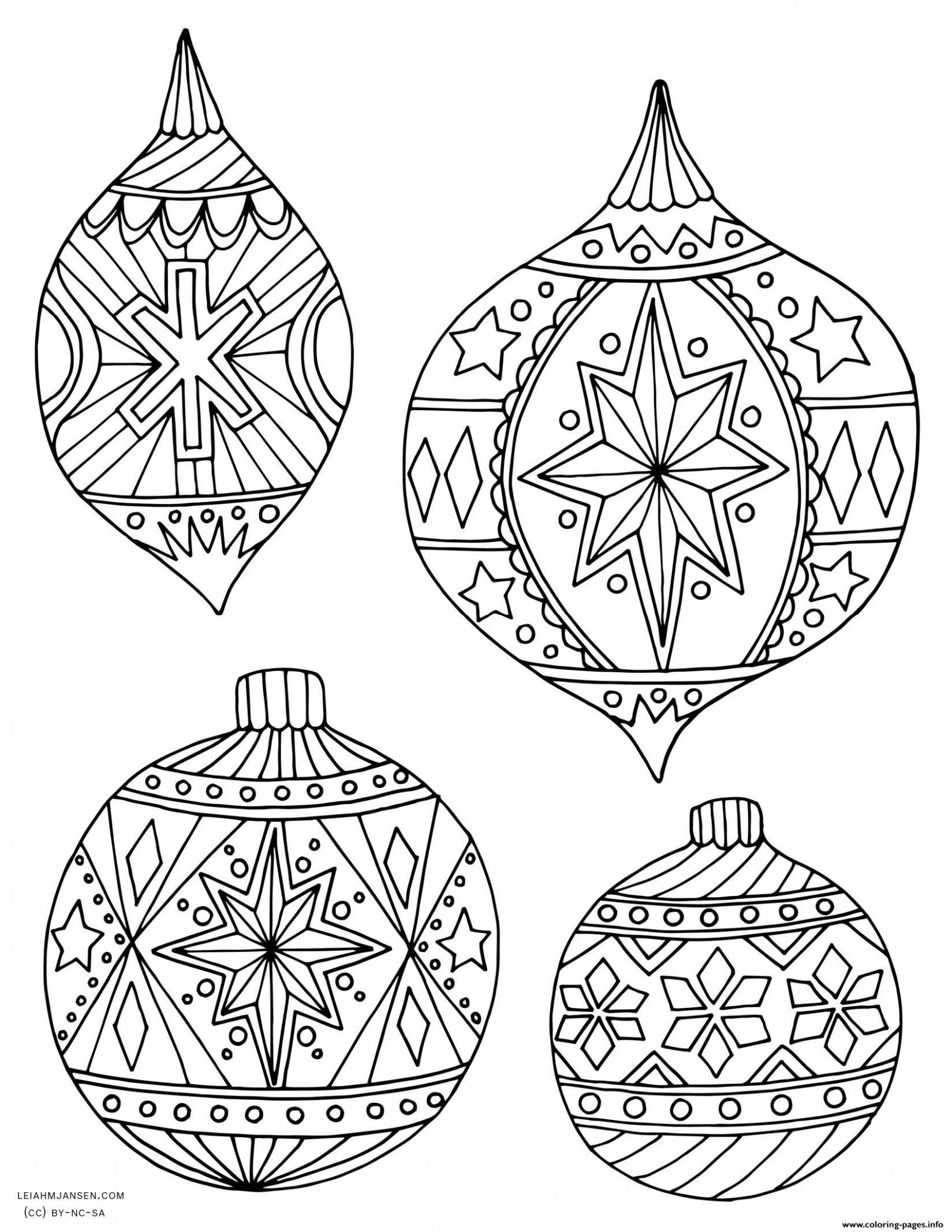 Coloring Ideas : 15adult Christmas Holiday Ornaments Adult ...