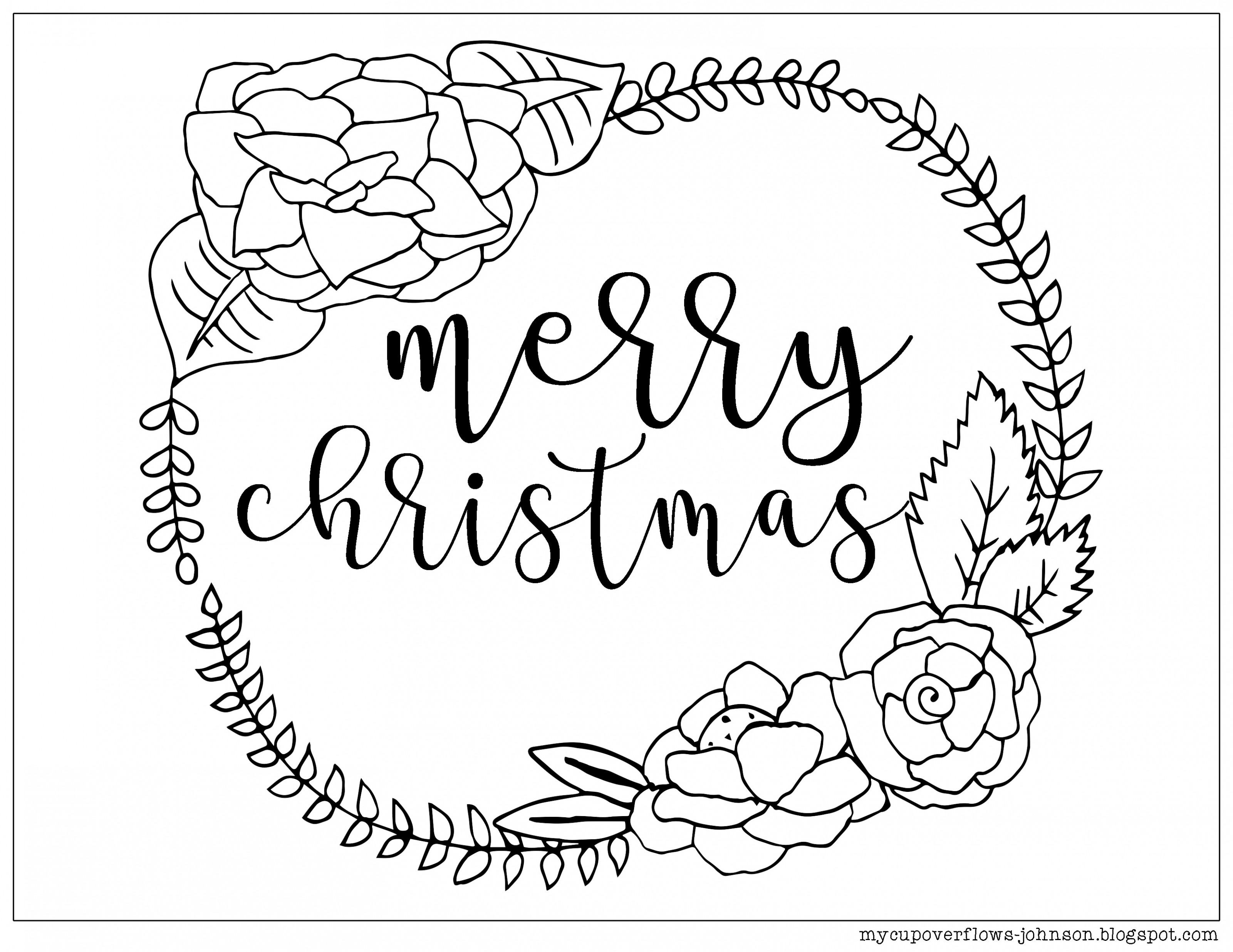 Coloring Ideas : Best Of Merry Christmas Coloring Page With Wreath ..