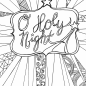 Coloring Ideas : O Holy Night Free Adult Coloring Sheet Printable ...