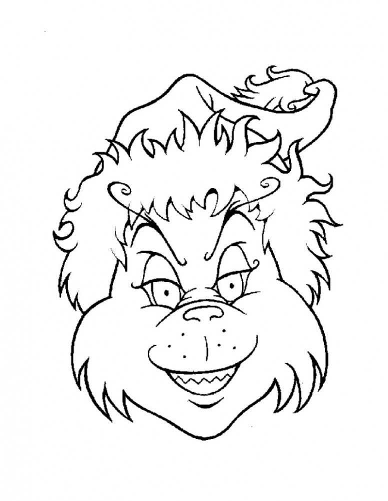 coloring page ~ Christmas Coloring Pages Grinch Head Page Source Msa ..