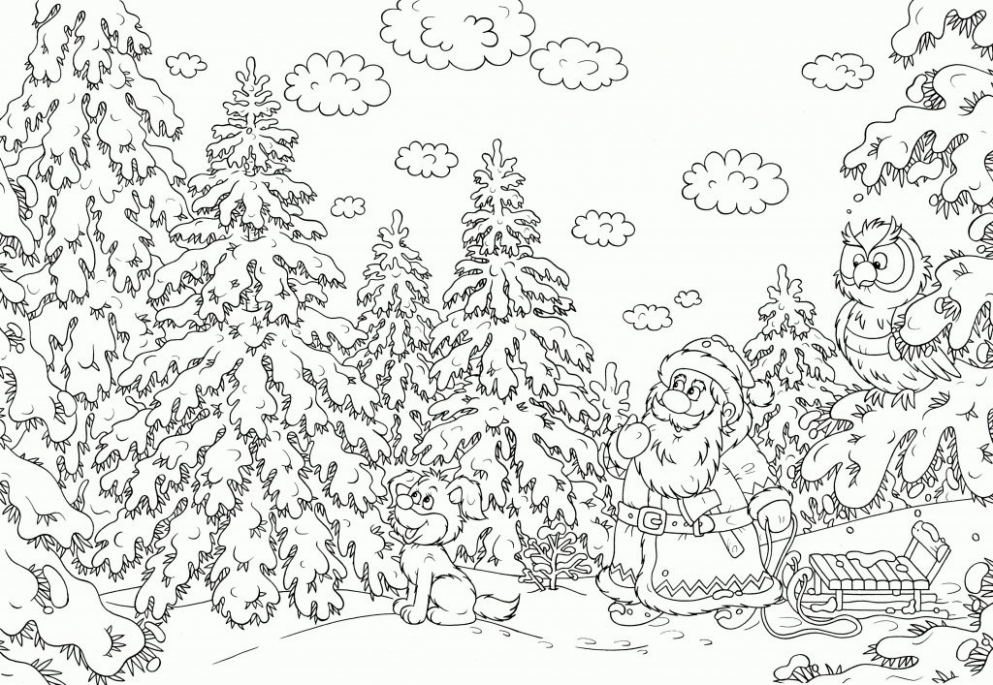 coloring page ~ Hard Colorings Christmas Colouring Chrismast And New ...