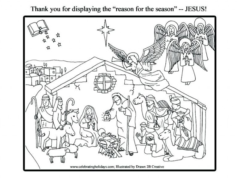 Coloring Page Nativity Free Nativity Coloring Page Coloring Page ..