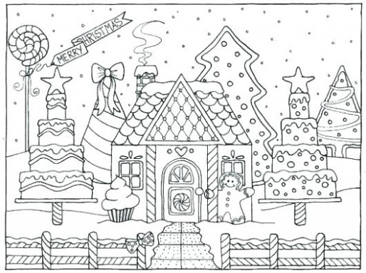 coloring page of a gingerbread house – akildefteri.info