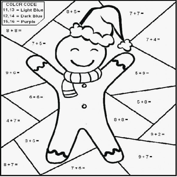 coloring pages: Christmas Color By Number Worksheets Christmas ..