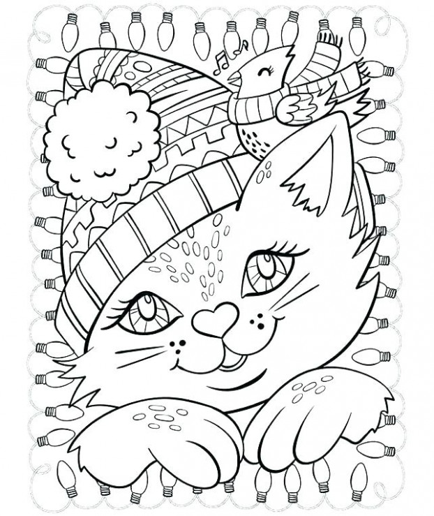 Coloring Pages Cute Animals – Animal Christmas Coloring Pages ..