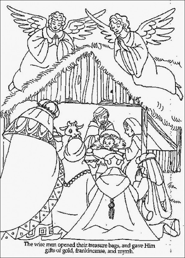 coloring pages: Free Printable Christian Christmas Coloring Pages ...