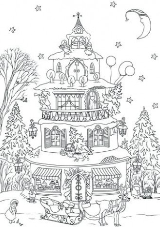 Coloring Pages House Free Christmas Coloring Pages Gingerbread House ...
