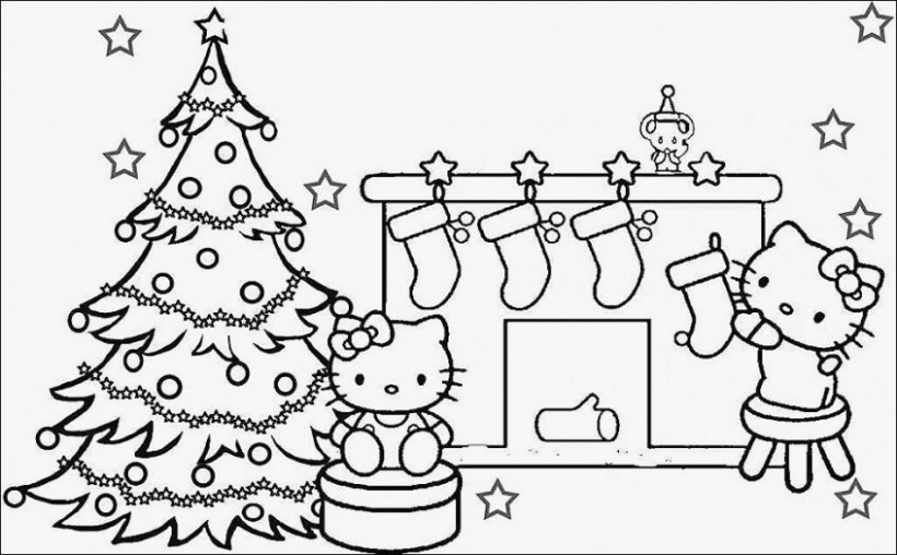 coloring pages: How To Color Hello Kitty 16 Hello Kitty Christmas ..