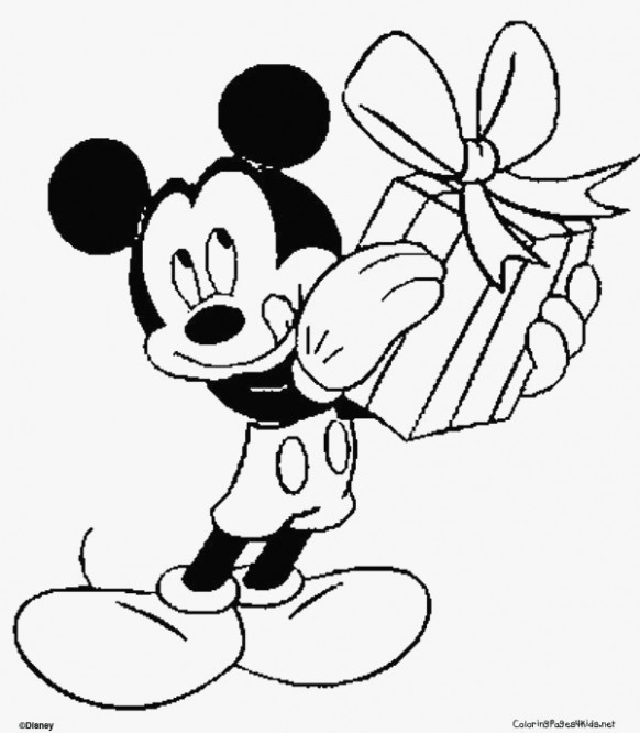 coloring pages: Mickey Mouse Christmas Coloring Pages Printable ..