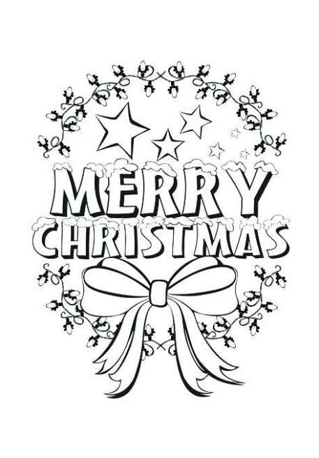coloring pages that say merry christmas cool colouring printable ...