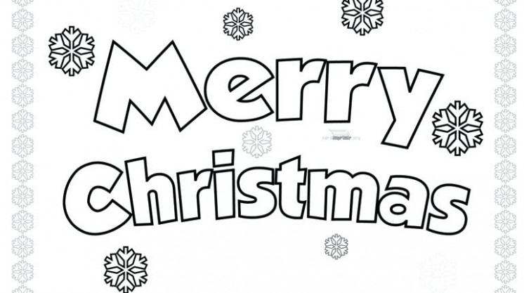 Coloring Pages That Say Merry Christmas Merry Coloring Pages Color ..