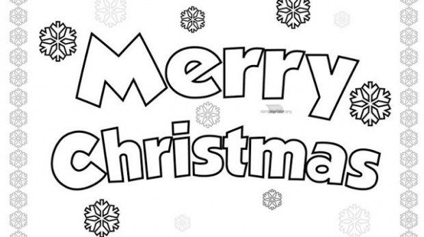 coloring pages to wish merry xmas merry christmas coloring pages ..