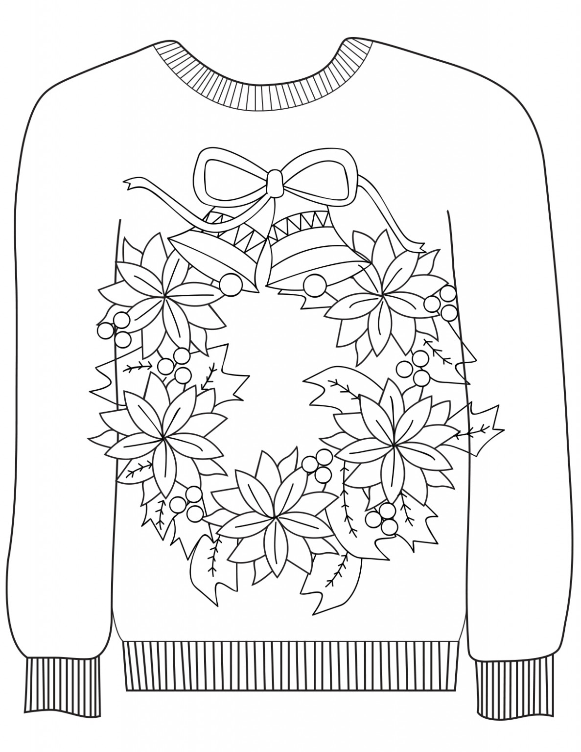Coloring Sheets – Ragstock – Ugly Christmas Sweater Coloring Pages