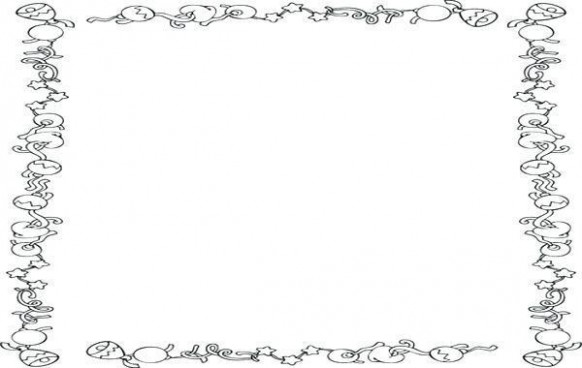 colouring picture cutouts 20 christmas coloring border borders pages ..