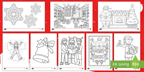 Colouring Sheets Christmas - KS12 Primary Resources