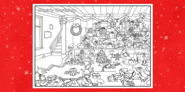 Crazy Christmas Colouring Challenge – Christmas Coloring Pages Twinkl