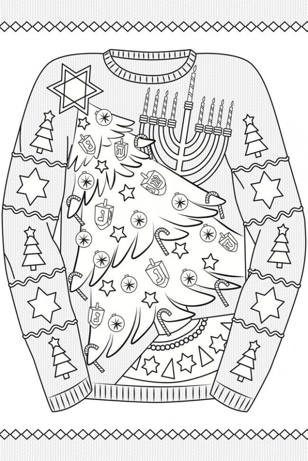Creative Haven UGLY HOLIDAY SWEATERS Coloring Book By: Ellen ..