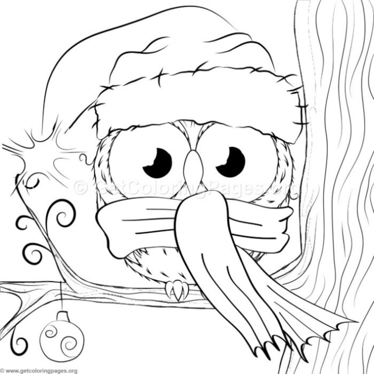 Cute Christmas Owl 17 Coloring Pages – GetColoringPages.org ...