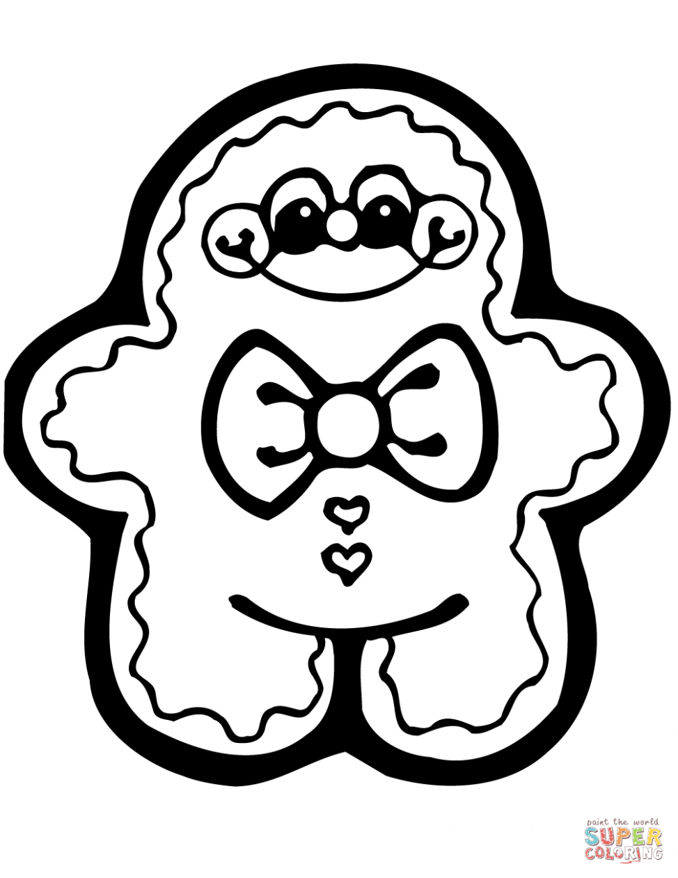 Cute Gingerbread Man coloring page | Free Printable Coloring Pages – Free Christmas Coloring Pages Gingerbread Man