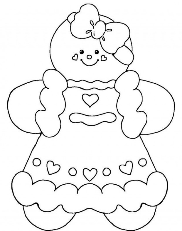 Cute gingerbread man coloring pages | candy christmas | Printable ..