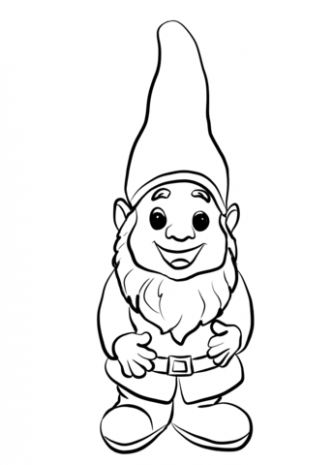 Cute Gnome coloring page | Free Printable Coloring Pages – Christmas Gnome Coloring Page