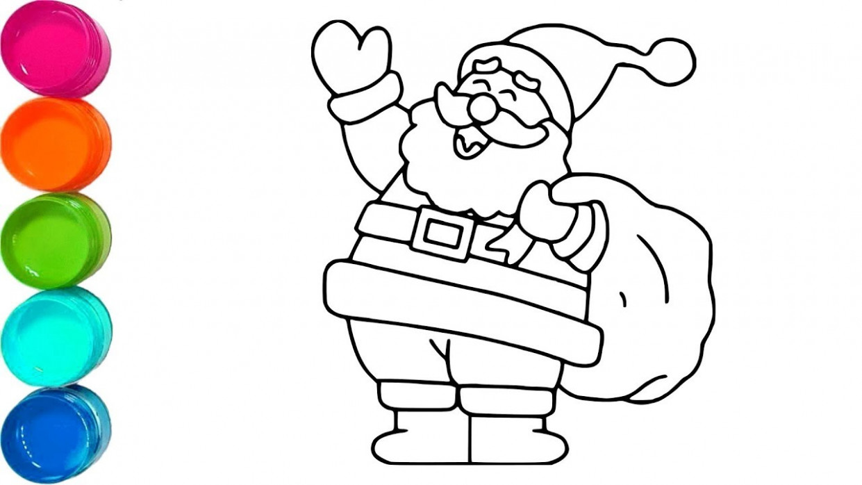 Cute Santa Claus - Christmas Coloring Pages For Kids - Video for ...
