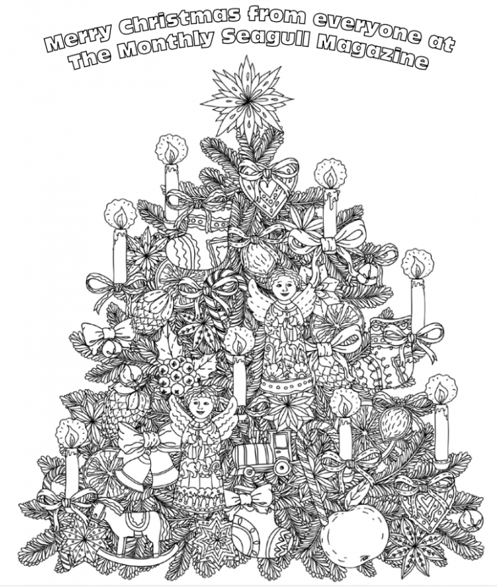 December 19 Colouring Competition – THE MONTHLY SEAGULL – Christmas Colouring Pages Tree