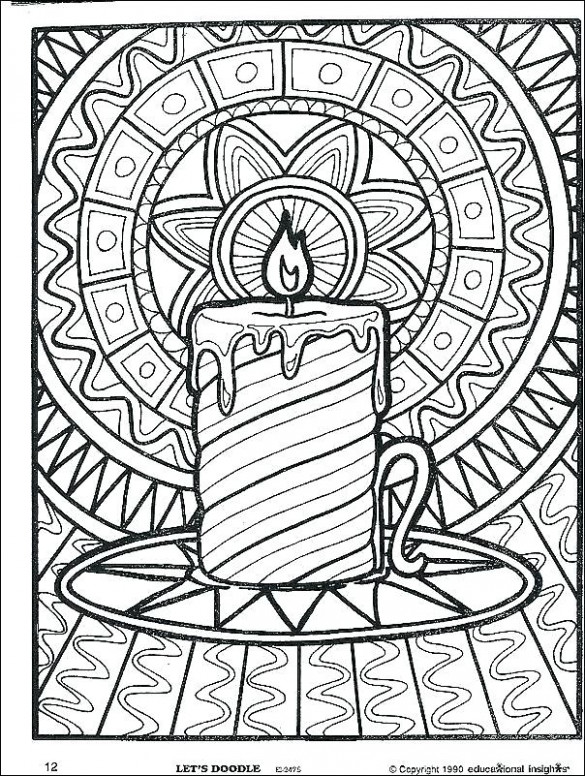 Difficult Christmas Coloring Pages Coloring Pages Difficult For ..