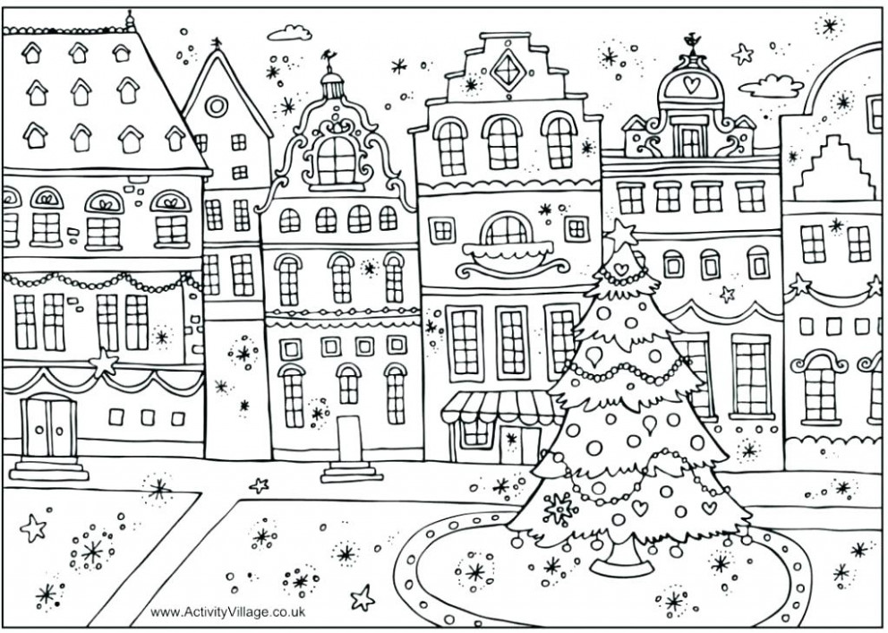 Difficult Christmas Coloring Pages Difficult Coloring Pages For ...