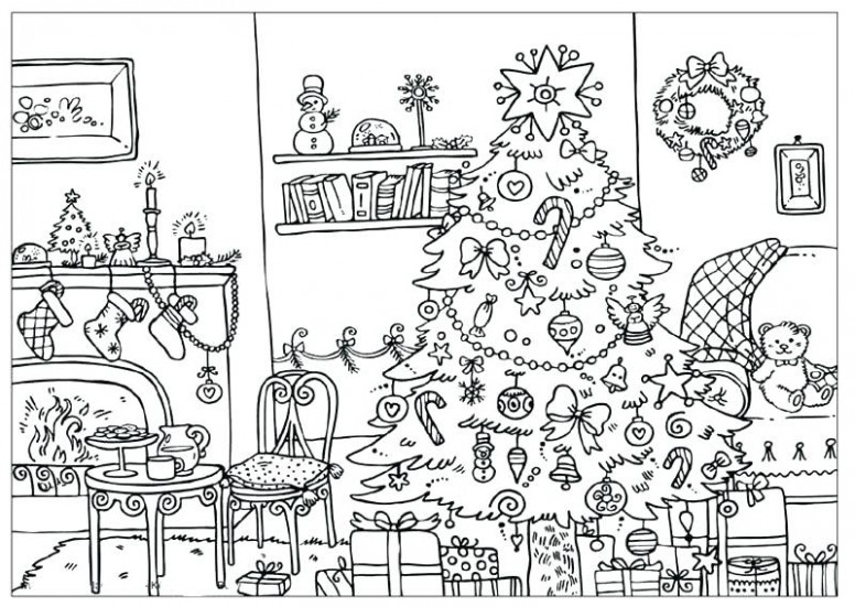 Difficult Christmas Coloring Pages – Halloween  – Christmas Coloring Pages Difficult