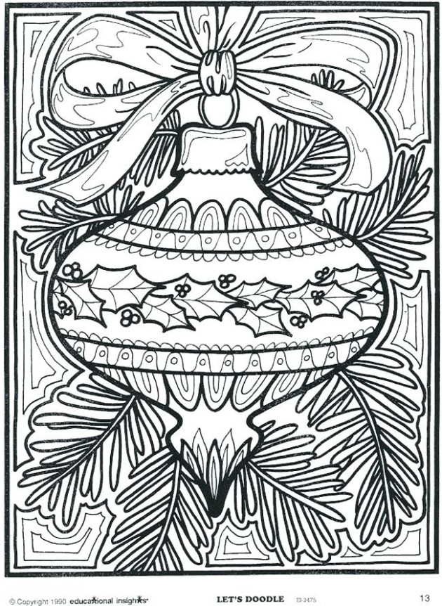 Difficult Christmas Coloring Pages Hard Coloring Pages Coloring ...