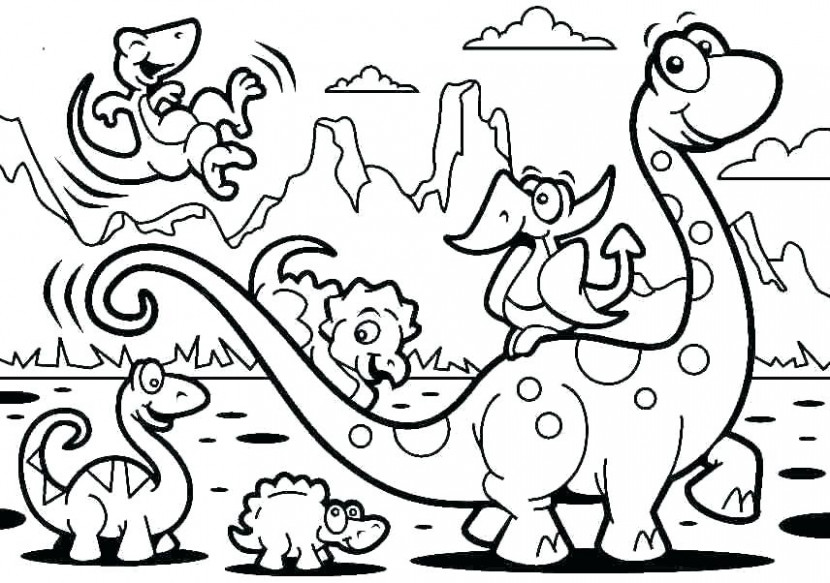Dinosaur Coloring Pages For Preschoolers Dinosaur Color Page ...
